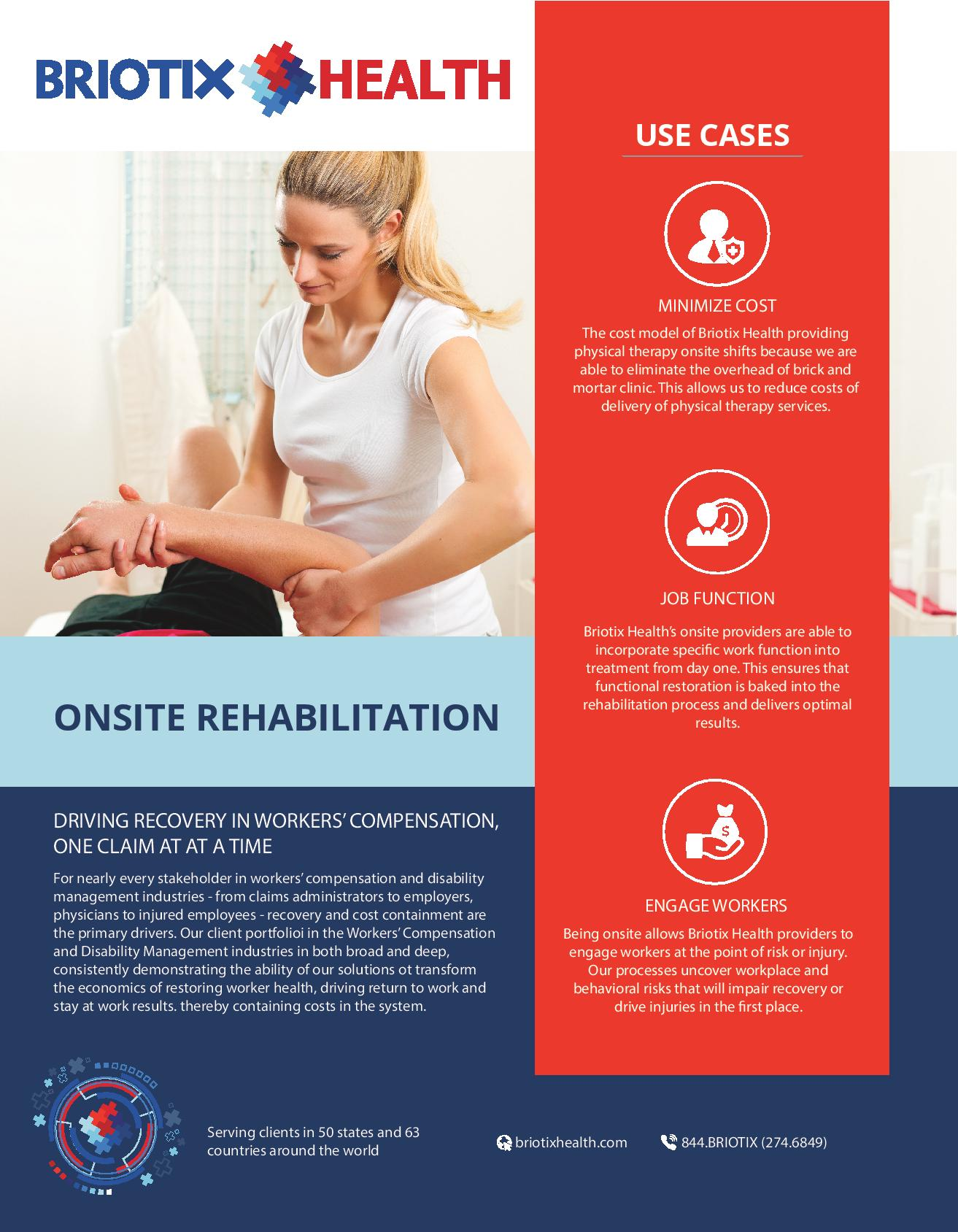 on-site rehabilitation