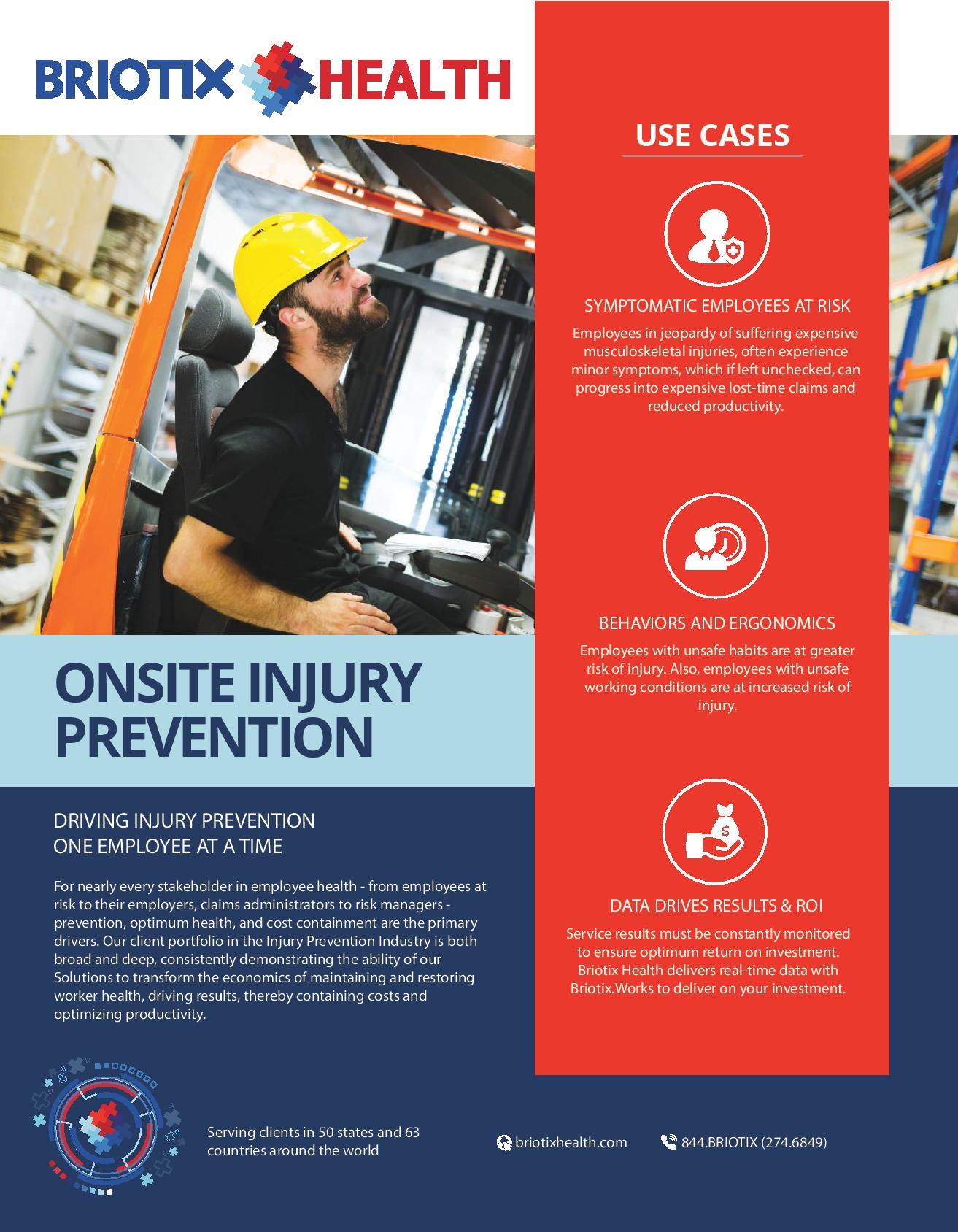 onsite injury prevention